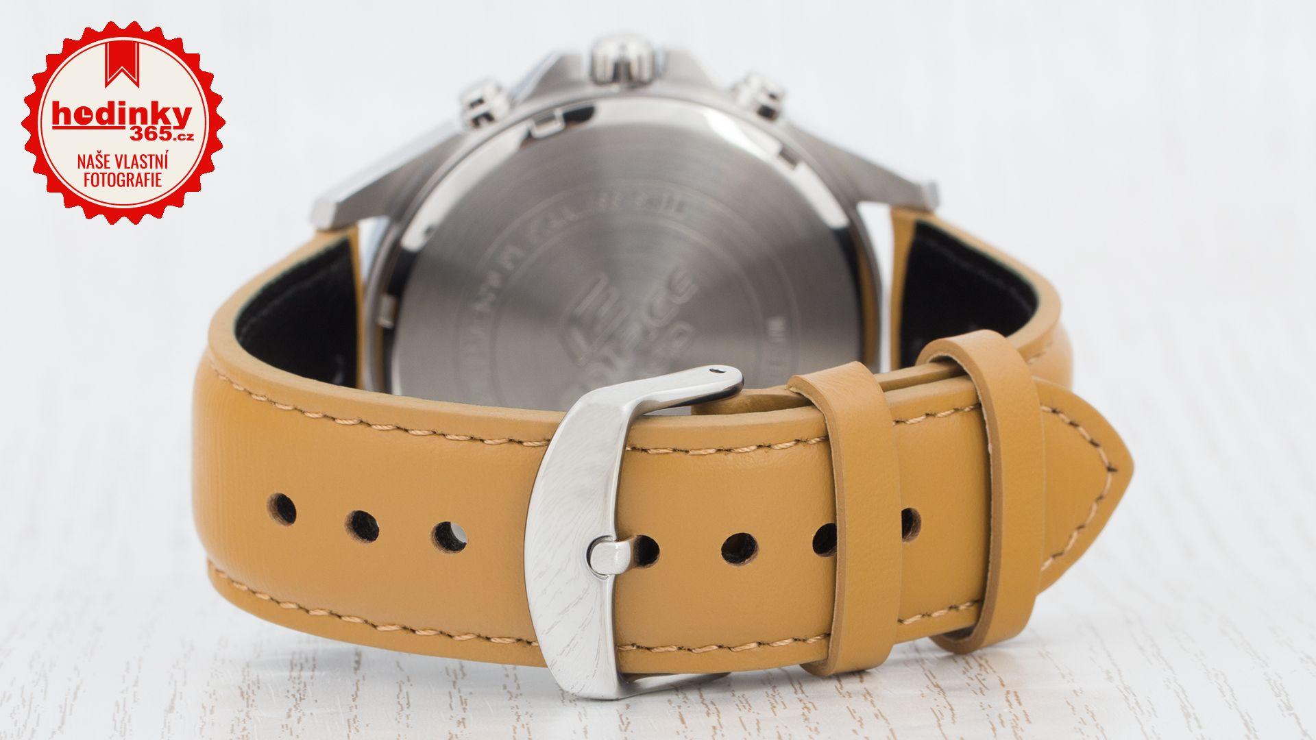 Casio Edifice EFV-520L-2AVUEF. Pánské hodinky - kožený řemínek 317f5da176
