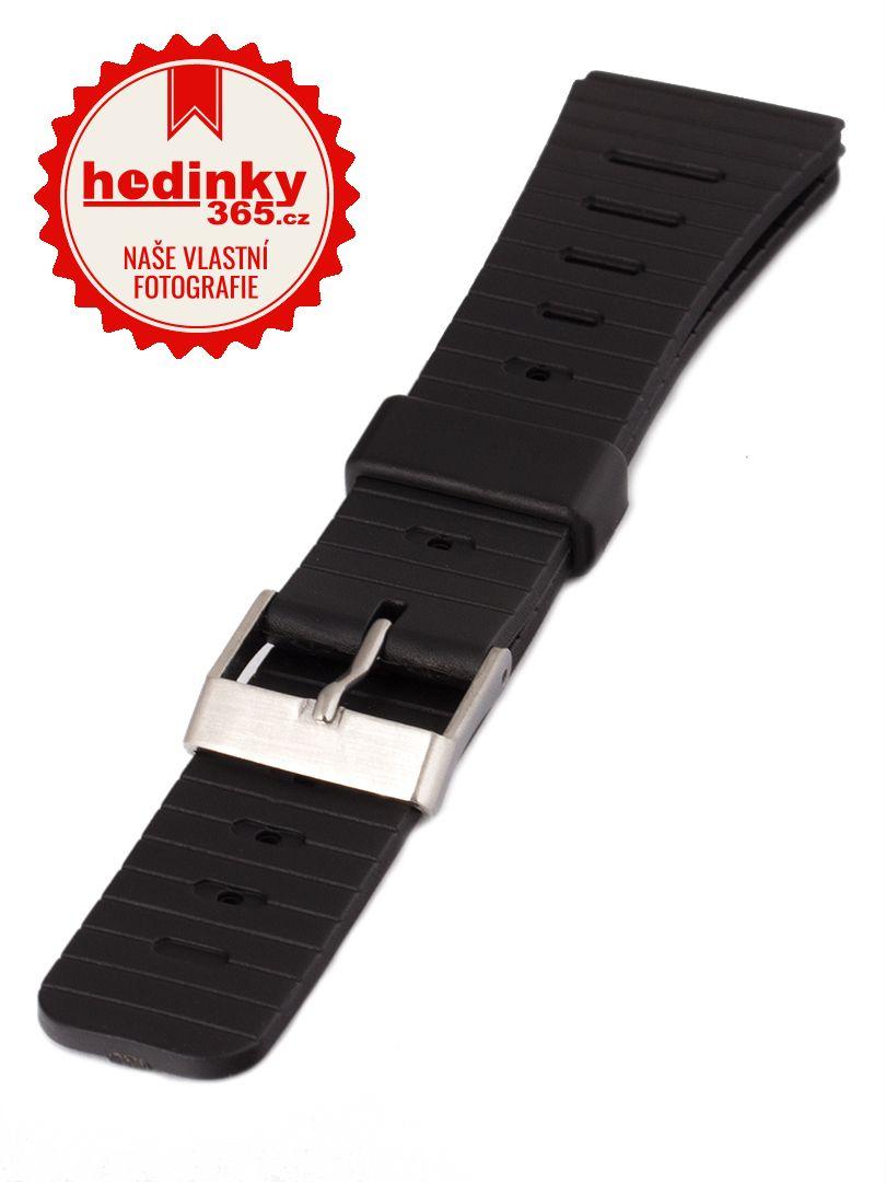 Unisex plastový černý řemínek Condor k hodinkám P50US 20 mm
