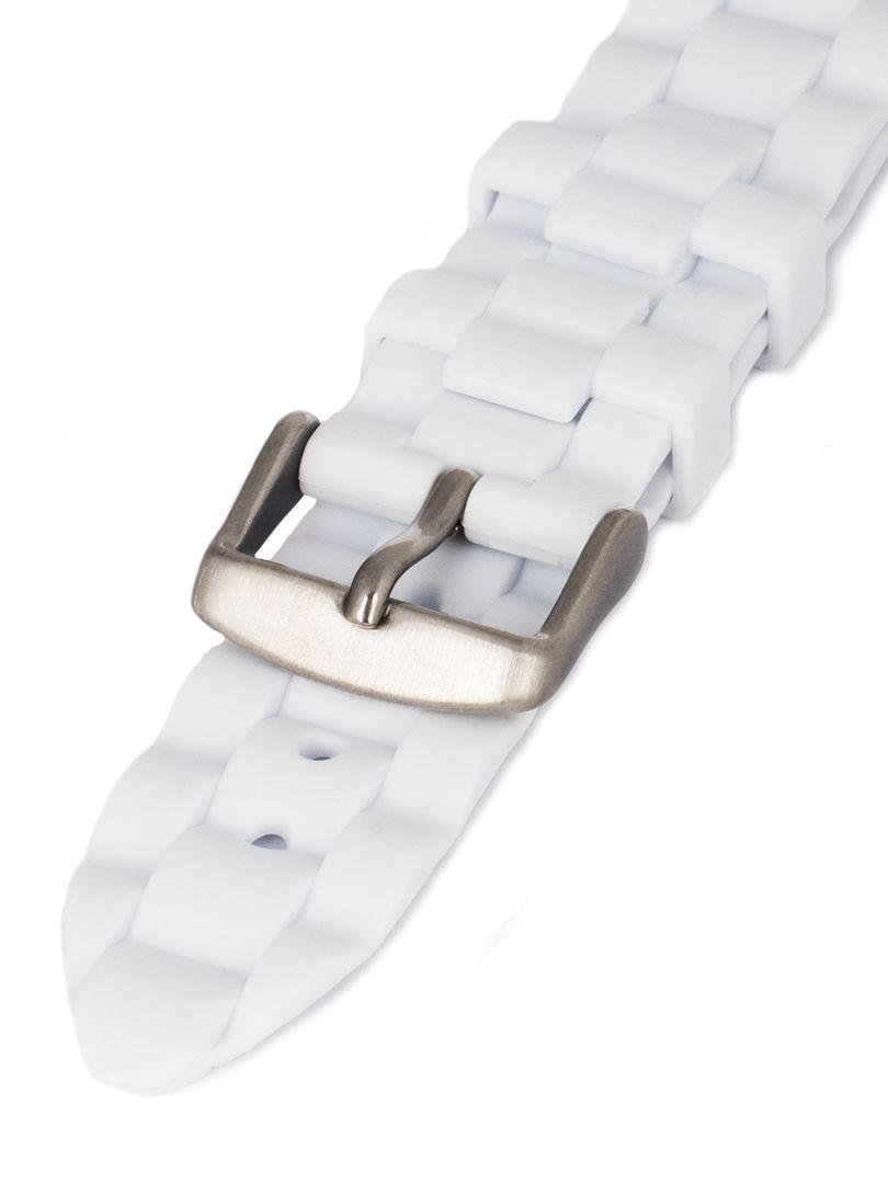 Unisex silikonový bílý řemínek Condor k hodinkám PU.106.09US