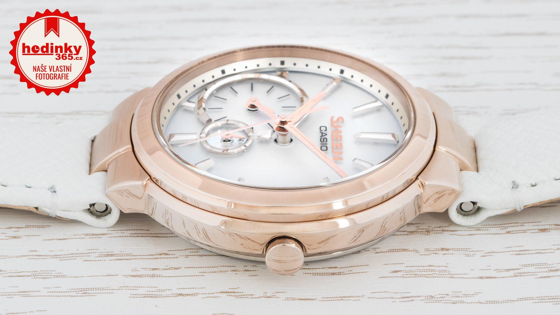 703bf9c402 Casio Sheen SHB-200CGL-7AER. Dámské hodinky - kožený řemínek