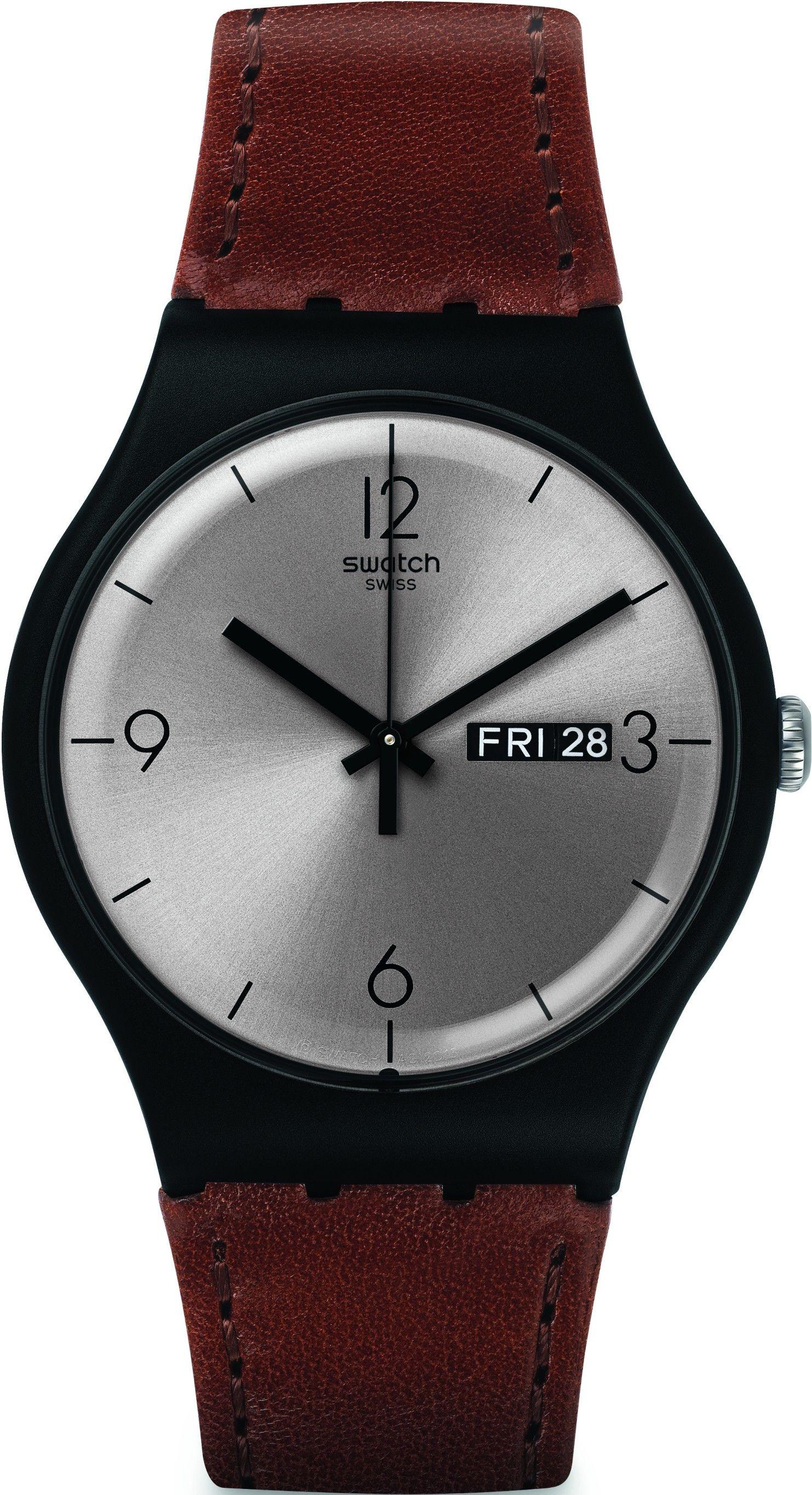 39b776f39bd Pánské hodinky - kožený řemínek