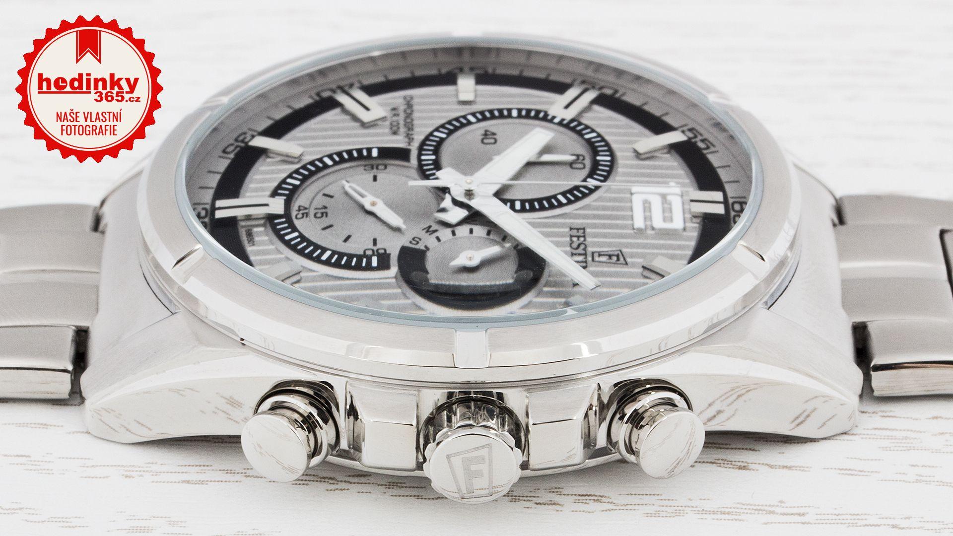 Festina Chronograph 6865 1. Pánské hodinky - ocelový řemínek 3a66c39132