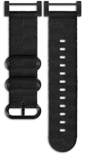 Textilní řemínek k hodinkám Suunto Essential All Black Kit