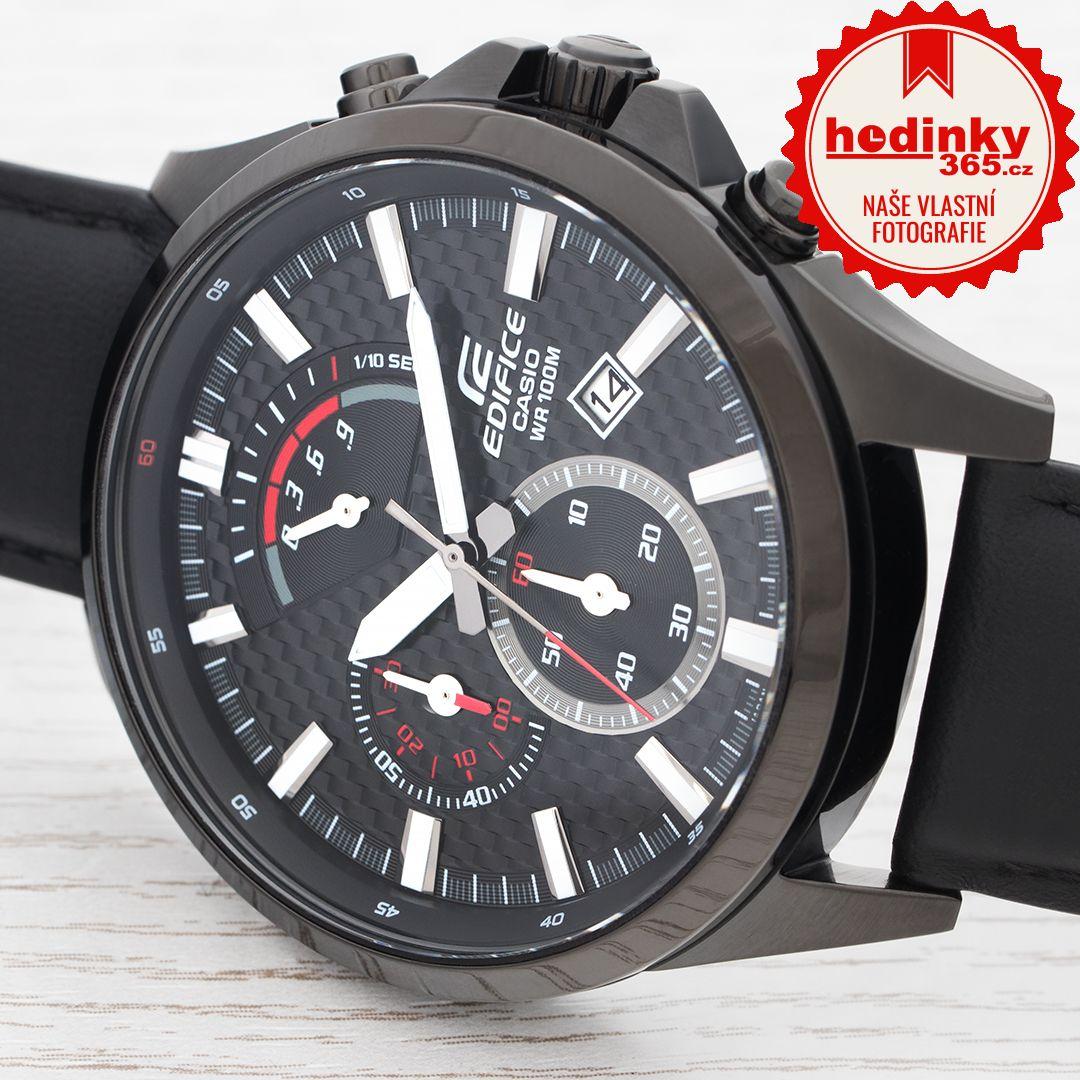 Casio Edifice EFV-530BL-1AVUEF. Pánské hodinky - kožený řemínek 0746a8ee47