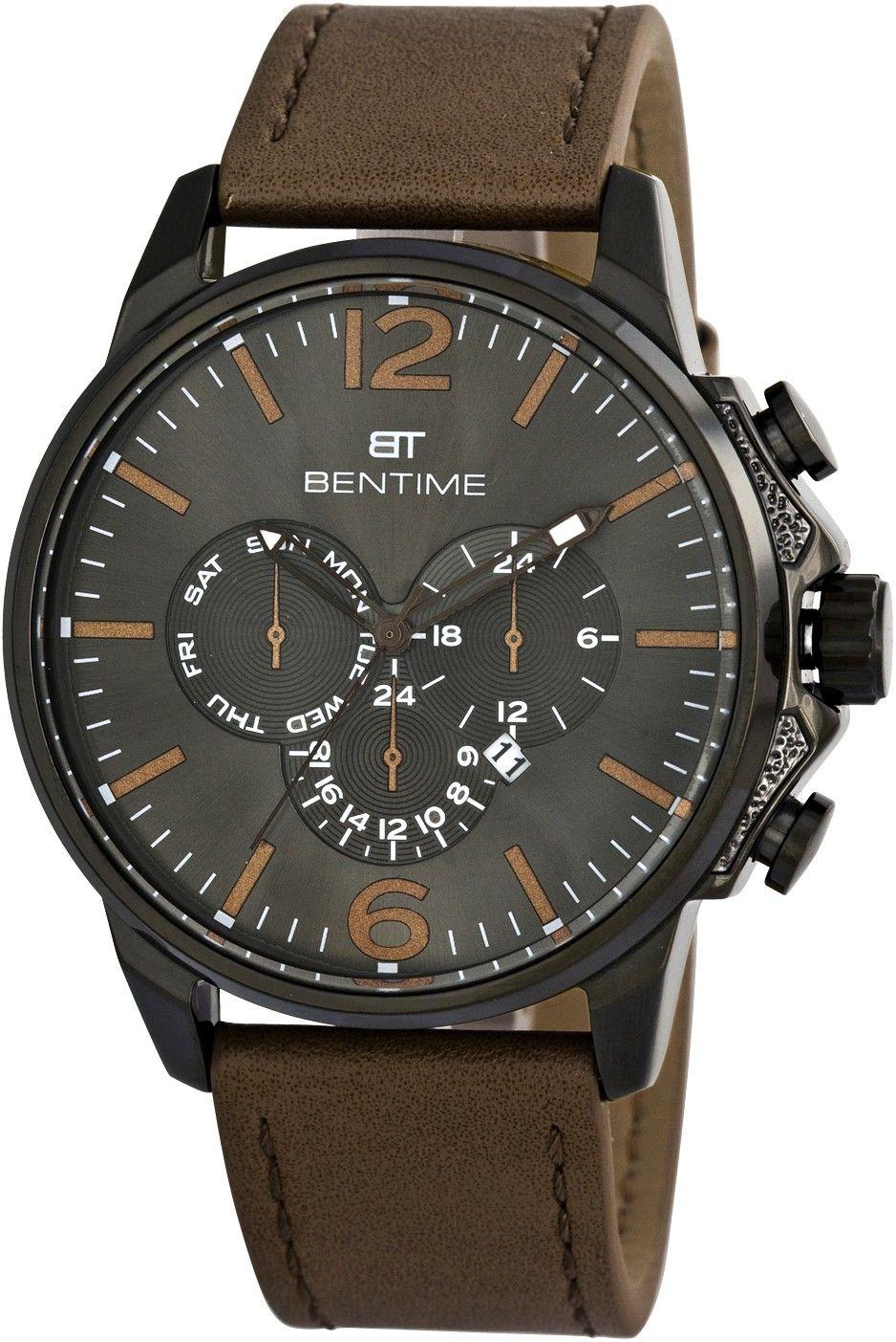 99b4752acd Pánské hodinky - kožený řemínek