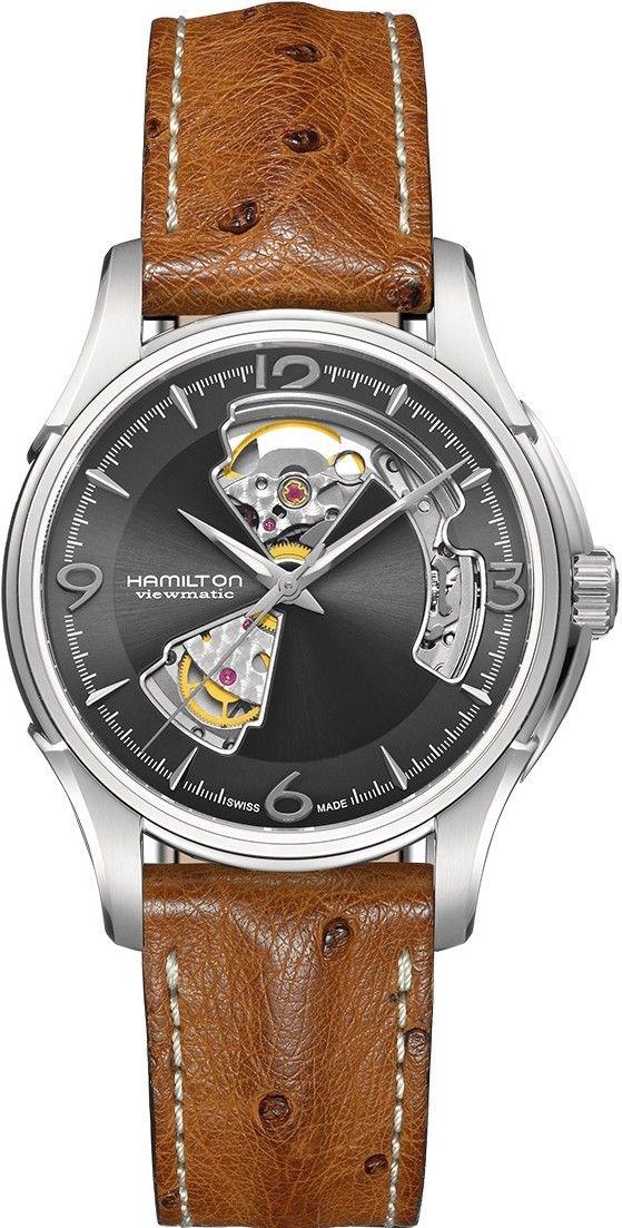 Hamilton Jazzmaster Open Heart Auto H32565585. Pánské hodinky - kožený  řemínek e0db07e644b