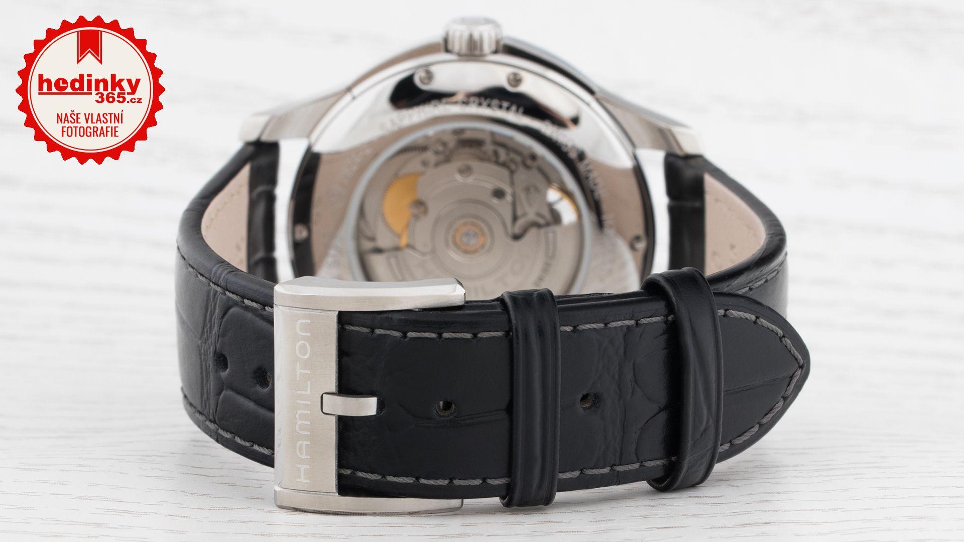 Hamilton Jazzmaster Open Heart Auto H32565735. Pánské hodinky - kožený  řemínek ffad8b9b0b0
