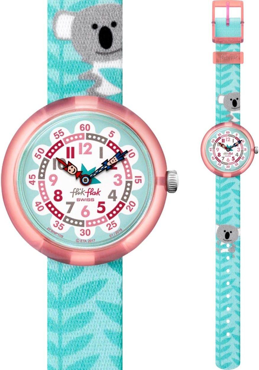Flik Flak ZFBNP109 s motivem koaly. Dětské hodinky - textilní řemínek 20609dd4779