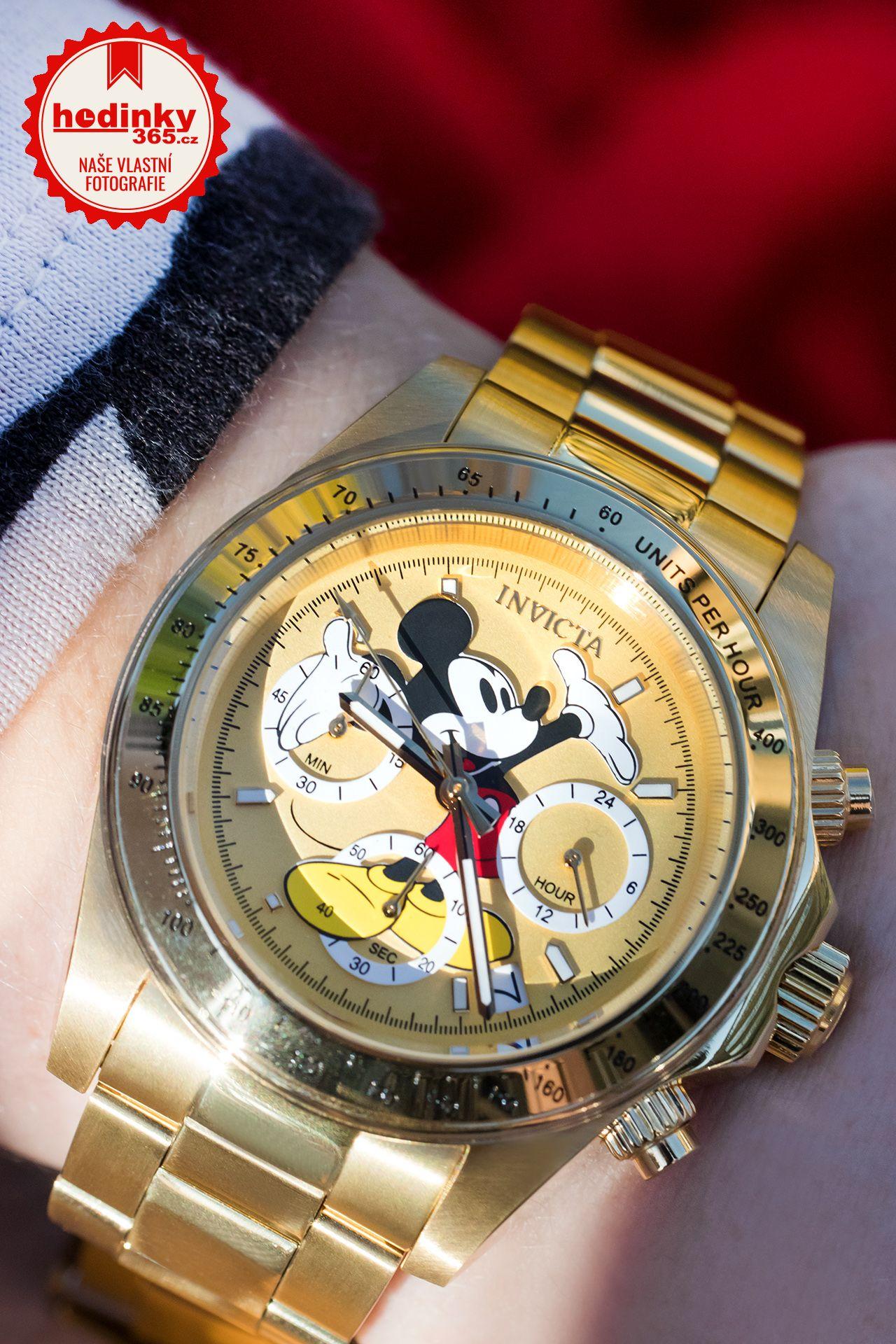 9032fc214a1 Invicta Disney Quartz 25196 Mickey Mouse Limited Edition 3000pcs. Unisex  hodinky - ocelový řemínek, ocel pouzdro, minerální sklíčko.