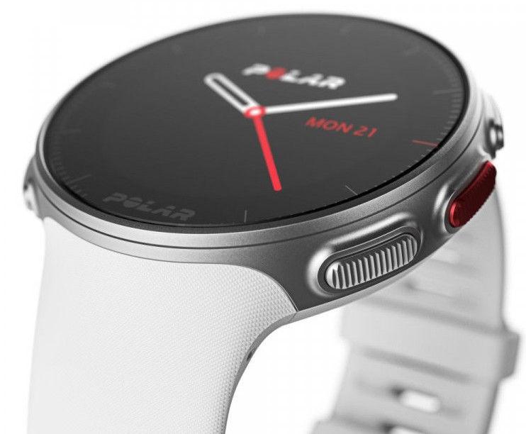 POLAR VANTAGE V bílý HR. Unisex hodinky - pryžový řemínek 0726c679aa8