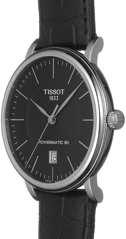 Tissot Carson Automatic Powermatic 80 T122.407.16.051.00. Pánské hodinky -  kožený řemínek e8a93317913