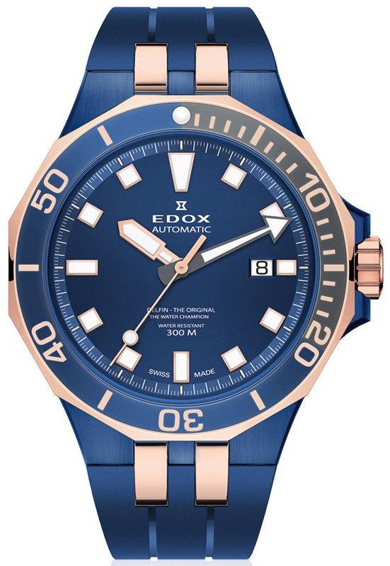 Edox Delfin The Original Automatic 80110-357burcab. Pánské hodinky -  plastový řemínek 6c4cc597d30