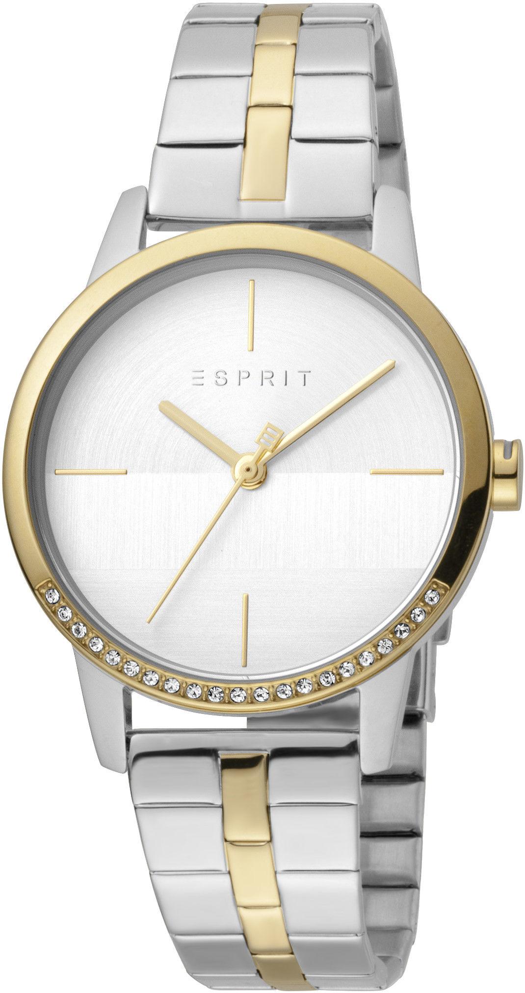 b0ba306ac Esprit Yen Silver Gold T/T MB ES1L106M0095. Dámské hodinky - ocelový  řemínek, ocel pouzdro, minerální sklíčko. Veškeré technické parametry  naleznete níže