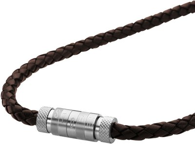 Pánský kožený náhrdelník Storm Quin Necklace Brown  51f1faacc58