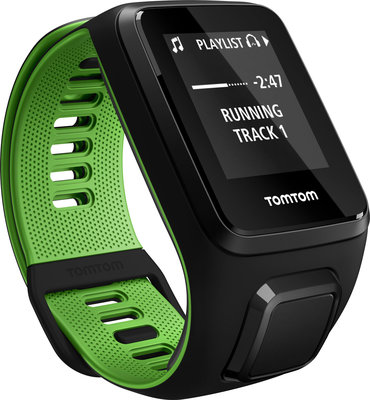 TomTom Runner 3 Cardio + Music Black/Green (L)