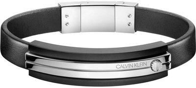 079ff29d6 Pánský náramek z kůže a chirurgické oceli Calvin Klein Mighty KJ8AMB290100  ...