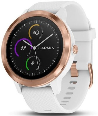 Garmin VívoActive3 Optic Rose Gold, White band