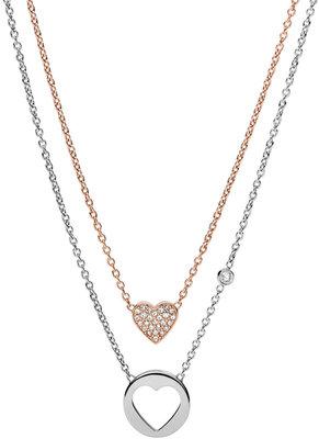ef269b57e Dámský náhrdelník z chirurgické oceli Fossil JF02857 | Hodinky-365.cz