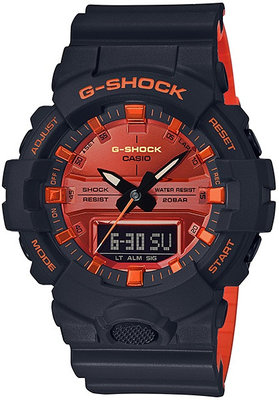 Casio G-Shock Original GA-800BR-1A Bright Orange Analog-Digital Series