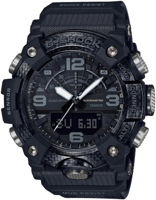 "Casio G-Shock Mudmaster GG-B100-1BER Carbon Core Guard ""Blackout"""