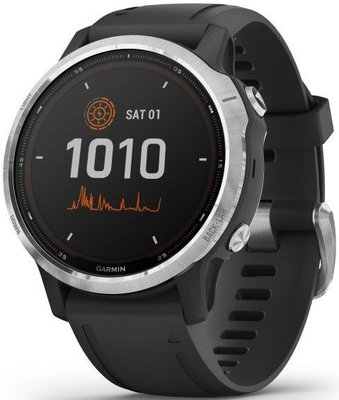 Garmin Fenix 6S Solar, Silver/Black Band